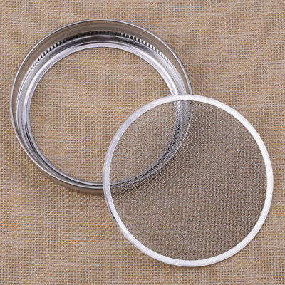 Silver Stainless Steel Strainer Sprouting Lid for Wide Mouth Mason Canning Jar