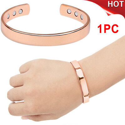 New Magnetic Healing Bio Therapy Arthritis Pain Relief Bangle Copper Bracelet
