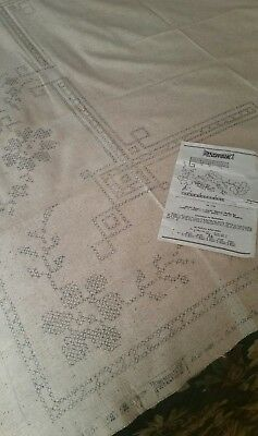 Stamped Linoweave Cloth for Embroidery 52 x 50