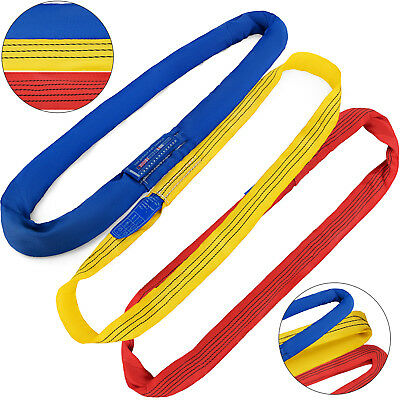 Endless Round Lifting Sling 4ft -20ft Crane Rigging Hoist Wrecker Recovery Strap