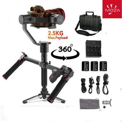 MOZA Air New Version w/ Dual Handle Grip DSLR Gimbal Stabilizer 7.72 Lb Payload