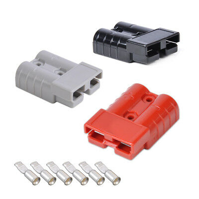 Battery Quick Connect Connector Plug 50A 8AWG Disconnect Winch Trailer Electric