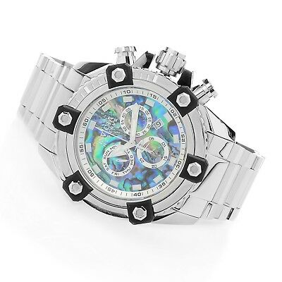 Invicta Reserve Mens 58mm Grand Octane Swiss Quartz Chronograph Abalone Dial New