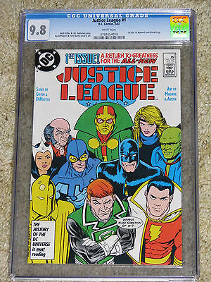 Justice League 1 CGC 9.8. 5/87. 1st app Maxwell Lord!