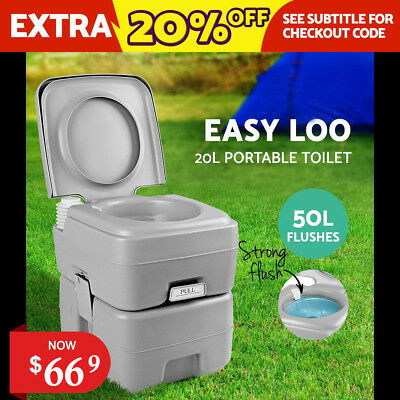AU seller 20L Outdoor Portable Toilet Camping Potty Caravan Travel Camp Boating
