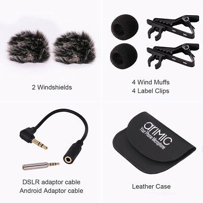 Lavalier Lapel Clip-on Omnidirectional Condenser Microphone for film interview