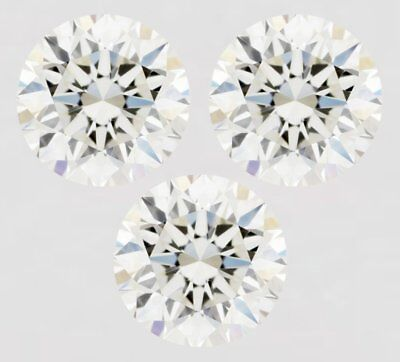 Loose Moissanite Off White Yellow Round Diamond Excellent Cut 1.5 to 6 Ct ,3 Pcs
