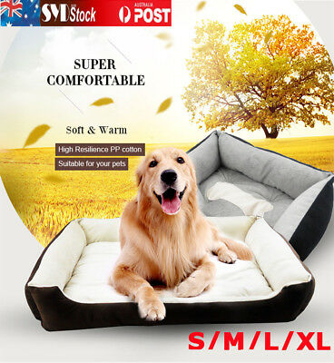 Heavy Duty Pet Bed Mattress Dog Cat Pad Mat Cushion Extra Large Large Medium SI