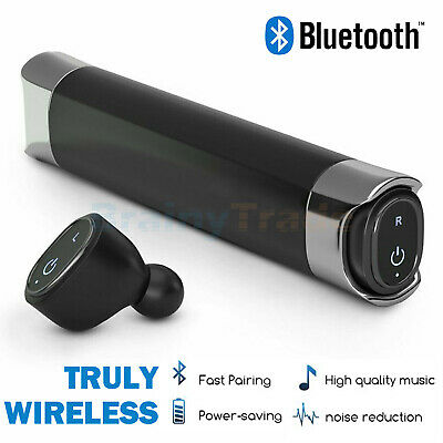 True Wireless Bluetooth Earbuds Waterproof Headset with Portable Charging Case