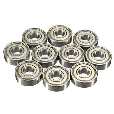 608ZZ 10PCs Ball Bearing Dual Sided Carbon Steel Shielded Deep Groove