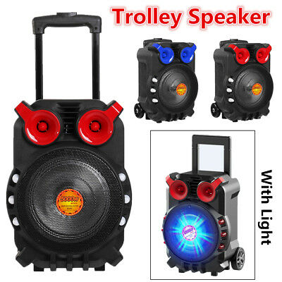 Outdoor Karaoke Machine Bluetooth Microphone Audio Singing Party Trolley Speaker