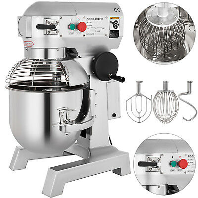 Electric Food Stand Mixer 750W 3 Speed 20Qt Stainless Steel Bowl Kitchen