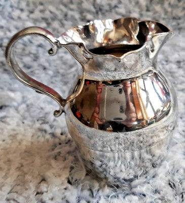"Milk Jug 3""  silver soldered antique collectable silver service item"