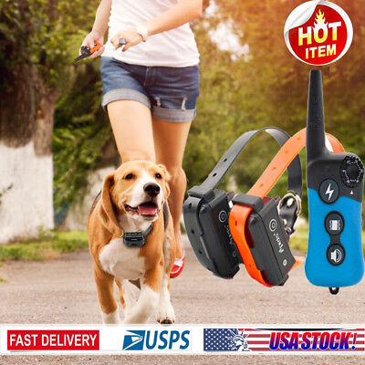 iPets 330 yard 1/2 Dog Shock Training Collar Remote Electric No Bark Pet Trainer
