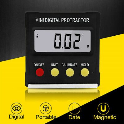 360° Mini Cube Magnetic Base Digital Protractor Angle Gauge Meter Inclinometer