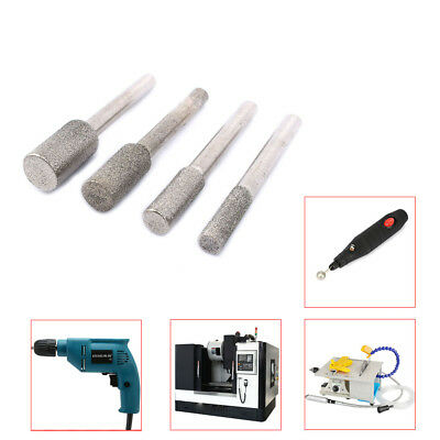 9pcs Diamond Cylindrical Coated Grinding Head 6-25mm Mounted Point Jewelry Tool