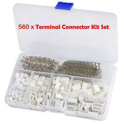 560x Micro Mini Stecker 2Pin 2.54mm 2 3 4 5-Pin CRIMP SET, JST XH kompatibel SET