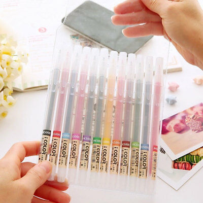 12 Brush Marker Pen Faserstifte Set Manga Anime Pinselspitze 1-3mm