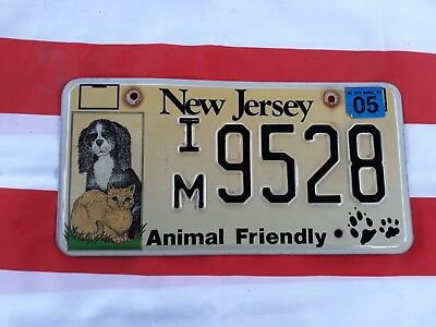 plaque d'immatriculation New Jersey Us 9528 Usa license plate