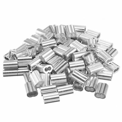 Wire Rope Aluminum alloy Sleeves Clip Fittings Cable Crimps Ferrule 50/100pcs P