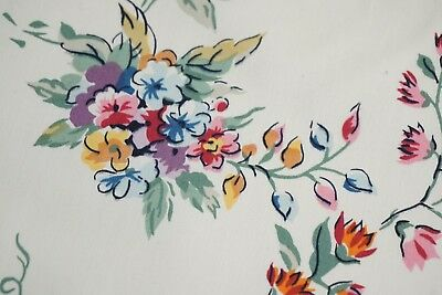 """Cotton French Fabric FLORAL PATTERN """"KINDY""""  Pretty Flowers SOLD BY THE YARD"""