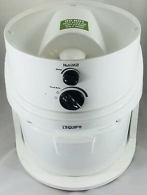 L'Equip NutriMill HS4.3 1200 Watt Grain Flour Mill Stone Grinder Variable Speed
