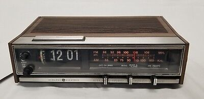 GE Flip Clock Alarm Radio General Electric Model 7-4321 Parts Or Repair