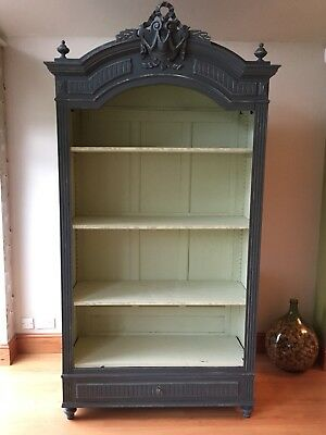 Antique French armoire / display cabinet
