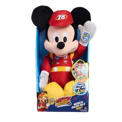 Mickey Mouse Roadster Racers Musical Plush Fun toy ages 2 & upDisney NWT