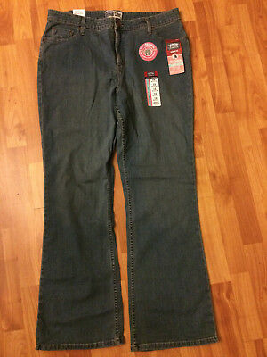 NWT Levi's Signature Misses Totally Slimming Tummy Straight Jeans 18 Medium NWT