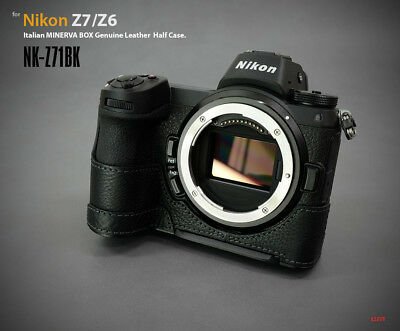 Lim's Design Lims NK-Z71BK Genuine Italy Leather Case for Nikon Z7 Z6, Black