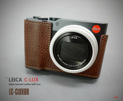 Lim's Design Lims LC-CLUXBR Genuine Italy Leather Case for Leica C-LUX, Brown