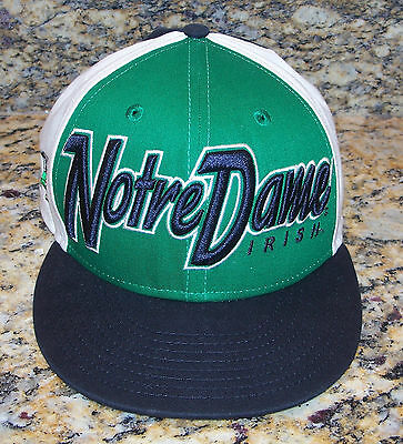 University Of Notre Dame Fighting Irish New Era 9Fifty Hat Cap Green Black White