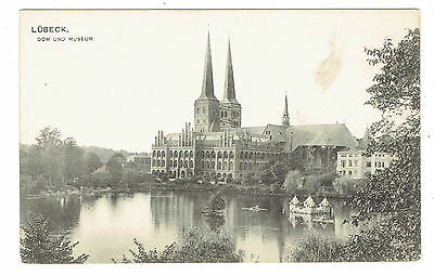 Lubeck Germany Dom und Museum early black and white view