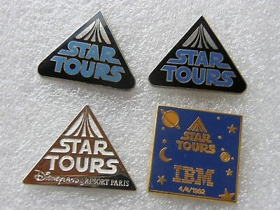 lot de 4 pin's STAR TOURS - disney , bd