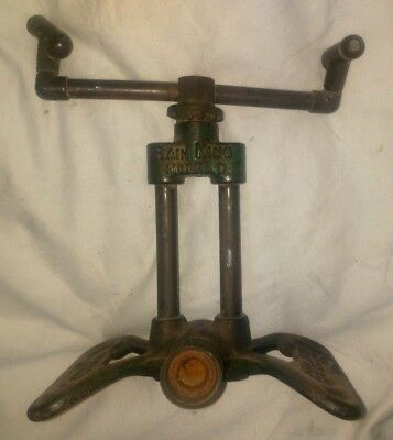 Antique / Vintage  RAIN KING Model D Lawn Sprinkler Brass & Cast Iron