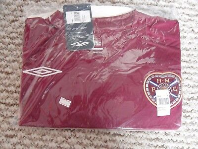 Hearts Football Shirt 08/09 Home Umbro XL Adult BNWT RRP £40