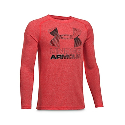 New Under Armour Boys' Long-Sleeve Performance Tee Shirt Big Kid