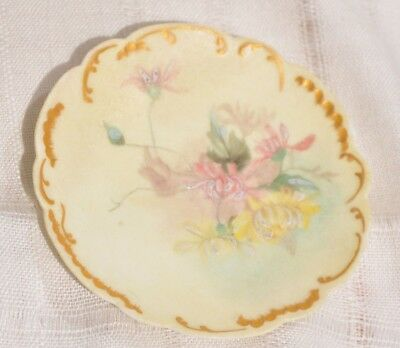 H&Co LIMOGES FRANCE, HAVILAND, HAND PAINTED FLOWERS FLORAL SMALL DISH 1888-1896