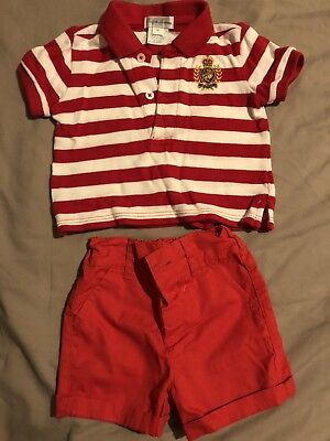 Ralph lauren baby boy Clothes tshirt and shorts set 3 Months