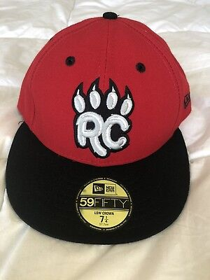 NEW BRITAIN ROCK CATS Baseball NEW ERA 59Fifty Fitted Hat Cap size 7 ... 22dcf2405e85