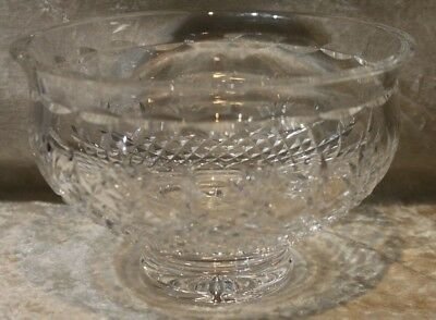 Larger Waterford Crystal Bowl-Table Center Piece-Hallmarked-Criss Cross Pattern