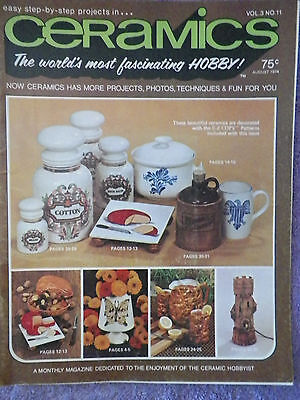 Vintage   Ceramics Magazine - August 1974 Volume 3  No. 11
