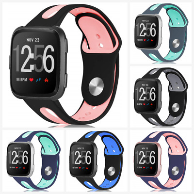 For Fitbit Versa Band Soft Silicone Sport Wrist Strap Replacement S/L Breathable