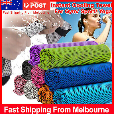 Instant Cooling Towel ICE Cold Cycling Jogging Gym Sports Outdoor Chilly Cool HY