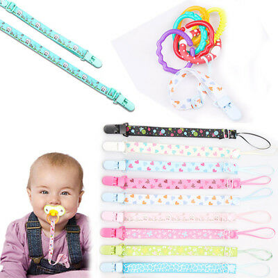 Floral Baby Kids Nipple Pacifier Clip Dummy Soother Chain Holder Leash Anti-lost