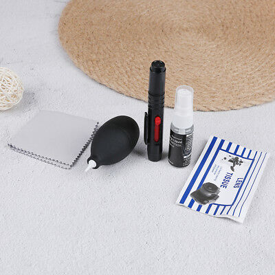 1Set cleaner camera cleaning lens pen brush lint-free wipes air blower kit BDAU