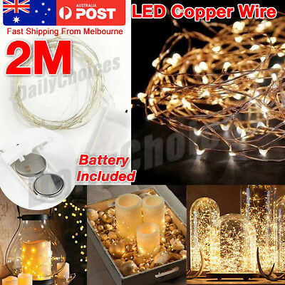 2M Copper Wire Wine Bottle Cork Battery Operated Fairy String Lights 2M 10LED