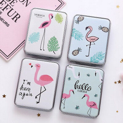 1pc Flamingo Double-sided Makeup Mirror Mini Pocket Cosmetic Compact Mirror Mini