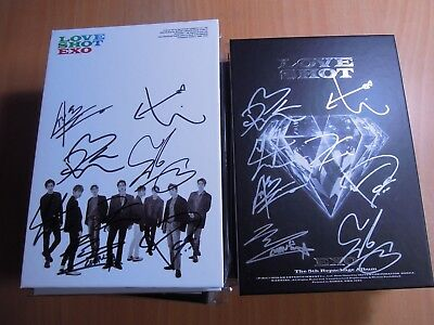 EXO - LOVE SHOT (5th Repackage promo) with Autographed (Signed) Max 59.99